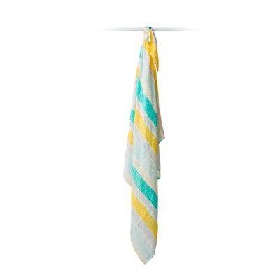 lulujo Lulujo Aqua Spotted Stripe Bamboo Swaddle – 47×47″