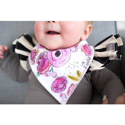 Copper Pearl baby bandana bibs - bloom