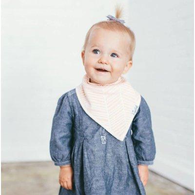 Copper Pearl baby bandana bibs - blush