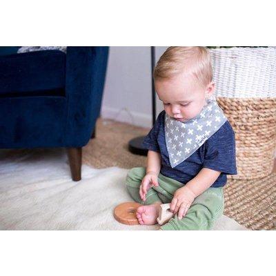 Copper Pearl baby bandana bibs - shade