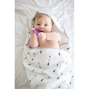 Copper Pearl Muslin Hooded Towel - Native