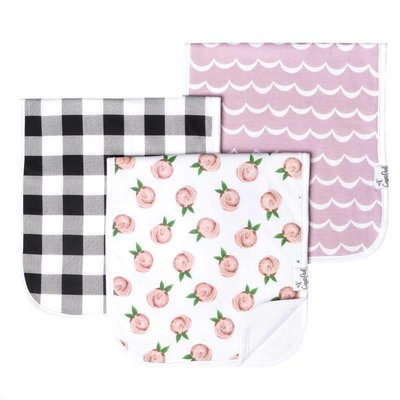 Copper Pearl premium burp cloths - rosie