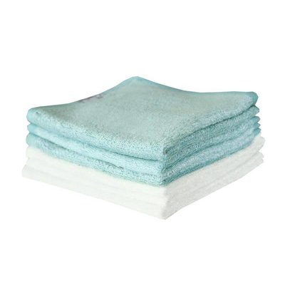 Copper Pearl Copper Pearl Wash Cloths - White and Blue