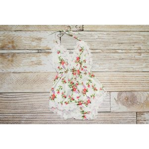 Lincoln&Lexi The Madeline Lace Trim Floral Romper
