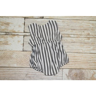 Lincoln&Lexi The Shelby Bow Back Stripe Romper