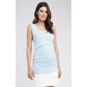 Ripe Maternity Ali Up / Down Nursing Tank - Blue Chambray