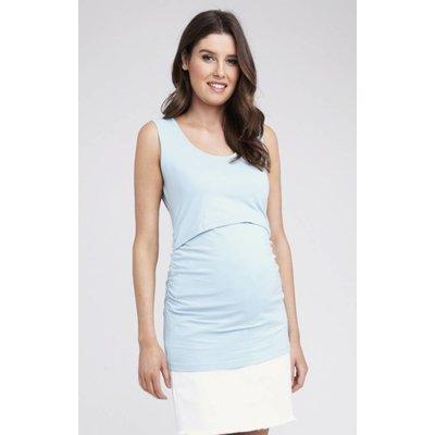 Ripe Maternity Ali Up / Down Nursing Tank - Blue Chambray
