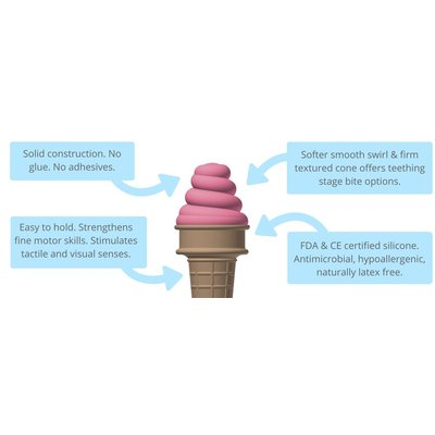 SweeTooth Lovely Lilac Ice Cream Teether