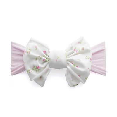 Baby Bling Jersey Bow (pink floral)