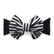 Baby Bling Jersey Bow (Black/White Stripe)