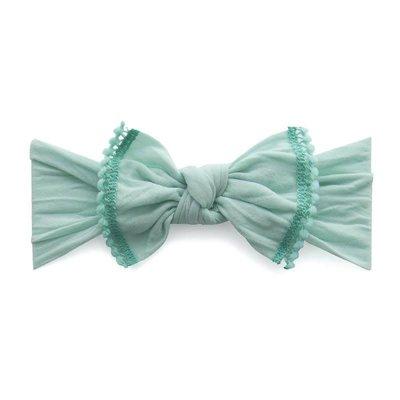 Baby Bling Trimmed Classic Knot (Seafoam /Aqua Mini)