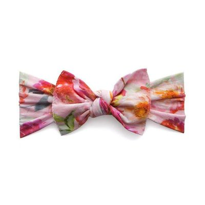 Baby Bling Printed Knot (soft pink floral)