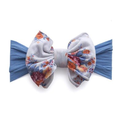 Baby Bling Jersey Bow (denim floral)