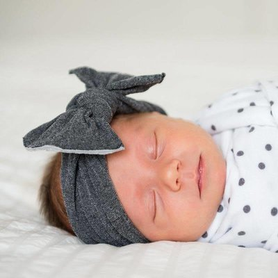 Baby Bling Patterned Knot (Stonewash Charcoal)