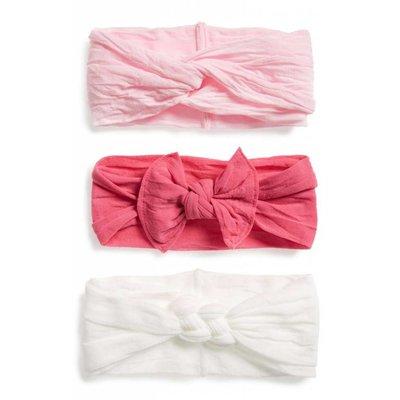 Baby Bling Headband Set 3 Pack (hot pink/white/pink)