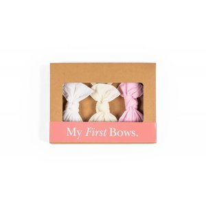 Baby Bling Knot Headband Set 3 Pack (pink/white/ivory)