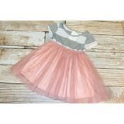 Lincoln&Lexi Stripe Tutu Dress(Mauve)