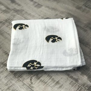 Three Little Anchors Hawkeye 100% Organic Swaddle Blanket
