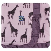 Kickee Pants Print Ruffle Stroller Blanket (Sweet Pea Giraffe - One Size)