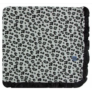 Kickee Pants Print Ruffle Toddler Blanket (Aloe Cheetah Print - One Size)