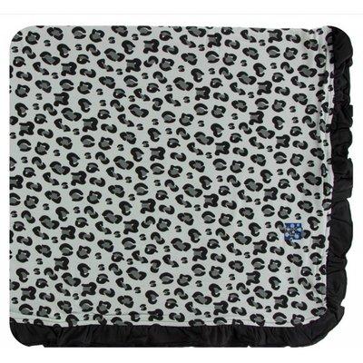 Kickee Pants Print Ruffle Toddler Blanket (Aloe Cheetah Print - One Size)