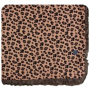 Kickee Pants Print Ruffle Toddler Blanket (Suede Cheetah Print - One Size)