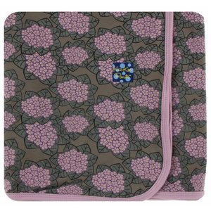 Kickee Pants Print Swaddling Blanket  (African Violets - One Size)