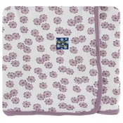 Kickee Pants Print Swaddling Blanket  (Natural Lantana - One Size)