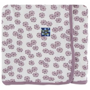 Kickee Pants Print Swaddling Blanket  (Natural Lantana - One Size)