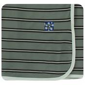 Kickee Pants Print Swaddling Blanket  (Succulent Kenya Stripe - One Size)