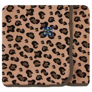 Kickee Pants Print Swaddling Blanket  (Suede Cheetah Print - One Size)