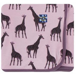 Kickee Pants Print Swaddling Blanket  (Sweet Pea Giraffe - One Size)