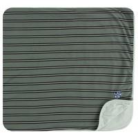 Kickee Pants Print Toddler Blanket (Succulent Kenya Stripe - One Size)