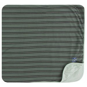 Kickee Pants Print Toddler Blanket (Succulent Kenya Stripe - One Size)