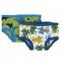 Kickee Pants Training Pants Set (Amazon Frogs and Meadow Capybara)