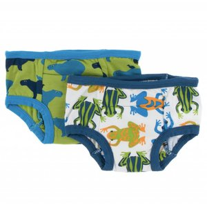 Kickee Pants Training Pants Set (Amazon Frogs and Meadow Capybara)