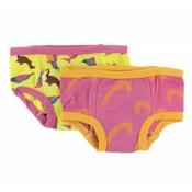 Kickee Pants Training Pants Set (Banana Tropical Birds and Carnival Feathers )