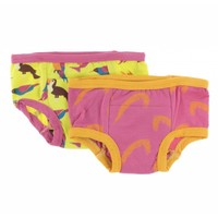 Kickee Pants Training Pants Set (Banana Tropical Birds and Carnival Feathers )