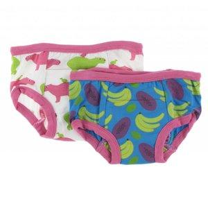 Kickee Pants Training Pants Set (Natural Capybara and Tropical Fruit)