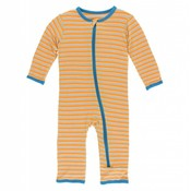 Kickee Pants Print Coverall with Zipper (Tamarin Brazil Stripe)