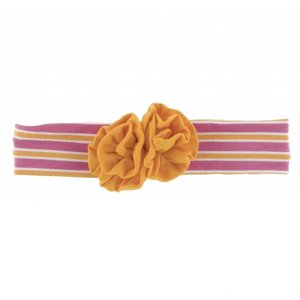 Kickee Pants Print Flower Headband (Flamingo Brazil Stripe)