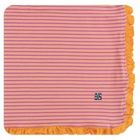 Kickee Pants Print Ruffle Toddler Blanket (Flamingo Brazil Stripe)