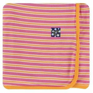 Kickee Pants Print Swaddling Blanket (Flamingo Brazil Stripe)