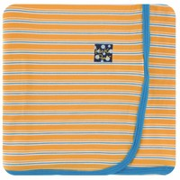 Kickee Pants Print Swaddling Blanket (Tamarin Brazil Stripe)