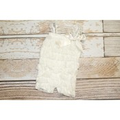 Lincoln&Lexi Solid Lace Romper (Ivory)