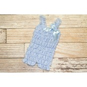 Lincoln&Lexi Solid Lace Romper (Light Blue)