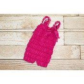 Lincoln&Lexi Solid Lace Romper (Hot Pink)
