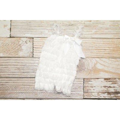 Lincoln&Lexi Solid Lace Romper (White)