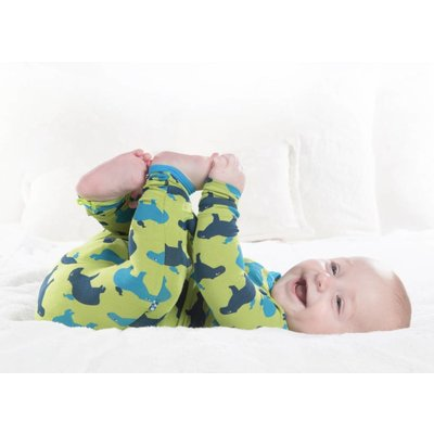 Kickee Pants Print Coverall with Zipper (Meadow Capybara)