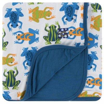 Kickee Pants Print Stroller Blanket (Amazon Frogs)
